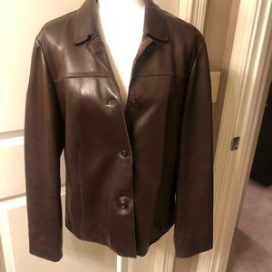 Leather jacket fully lined - tall size 8